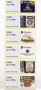 2017 Gibraltar Lojas Maçônicas aniversariantes Série de selos autoadesivos