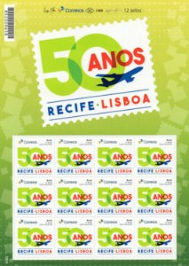 2017 50 Anos do voo Recife Lisboa (SP) mint