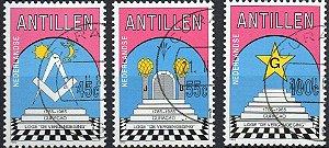 1985 Antilhas Holandesas série maçonaria (usada)