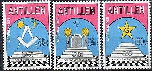 1985 Antilhas Holandesas série maçonaria (Mint)