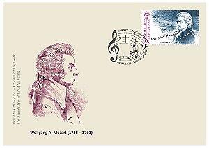 2016 Quirguistão aniversário Mozart (músico e maçom) FDC