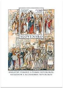 2013 Eslováquia  1150 ANOS DA CHEGADA DE SÃO CIRILO (mint)
