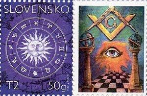 2013 Eslováquia  Selo personalizado Signos e Maçonaria MInt