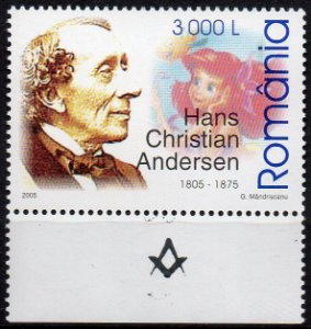 2005 România 200 anos do Maçom Hans Christian Andersen