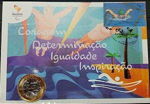 2016 Rio 2016 Jogos Paralímpicos - Natação Paralímpica -= Máximo Numismático (raro)