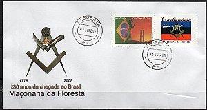2008 Envelope 230 anos da Maçonaria Florestal Brasileira - Carbonária