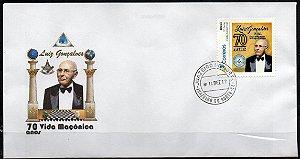 2017 Envelope comemorativo - Luiz Gonçalves, maçom mais antigo do Brasil 70 anos de maçonarira