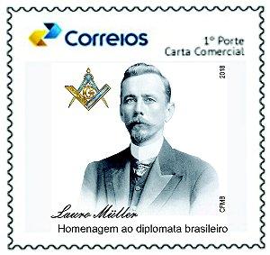 2017 Homenagem ao Diplomata e Maçom Lauro Müller (selo personalizado)