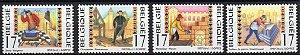 1997 Bélgica - serie Artesões - simbologia maçônica