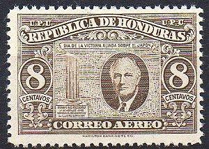 1946 Honduras Franklin D. Roosevelt - dia da vitória
