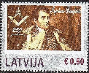 2019 Letônia 250 anos de Napoleão - selo personalizado