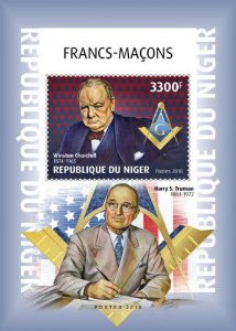 2019 Níger - Winston Churchill - Franco maçons