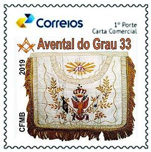 2019 - Homenagem ao Grau 33 da maçonaria - Avental do Grau