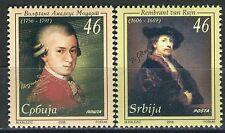 2006  Sérvia homenagem a Mozart e Rembrant - série MIN