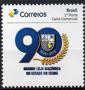 2018 Grande Loja Maçônica do Ceará 90 anos ( logo azul )