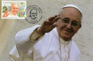 2013 Visita do Papa Francisco - Máximo posta (novo) excelente obliteração