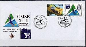 2013 CMSB XLII Assembléia Geral Ordinária da Maçonaria do Brasil - MT Envelope Personalizado