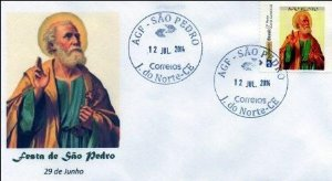 2014 Envelope Personalizado Selo personalizado e agência São Pedro