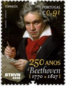 2020 Portugal 250 Anos do Nascimento de Beethoven - selo mint