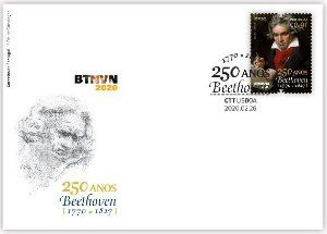 2020 Portugal 250 Anos do Nascimento de Beethoven - FDC