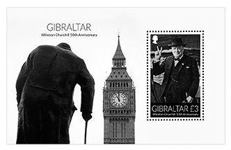 2015 Gibraltar Winston Churchil Bloco, maçom - 50 anos de seu falecimento