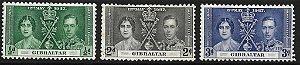 1937 Gilbraltar Rei George VI - Coroação - Grão Mestre da Grande Loja Unida da Inglaterra