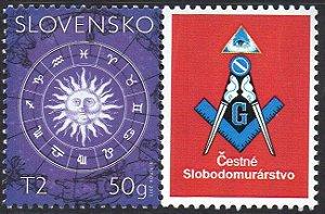 2017 Eslováquia - Homenagem à Maçonaria - vinheta - signos do zodíaco - personalizado