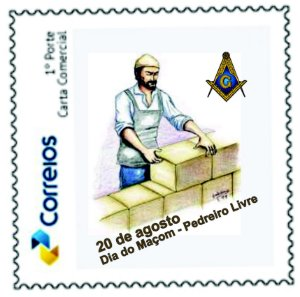 2020 Dia do Maçom, pedreiro livre selo personalizado