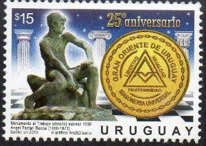 2015 URUGUAI 25 ANOS DO GRANDE ORIENTE DE URUGUAI