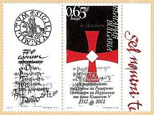 2012 Bulgária - 700 anos da Ordem dos Templários (mint)