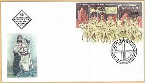 2018 Bulgária 900 anos da Ordem dos Templários - FDC (oficial novo)