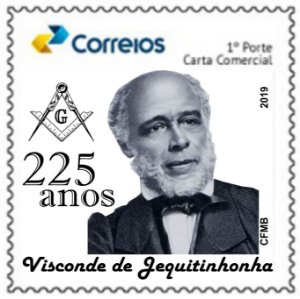 2019 Visconde de Jequitinhonha -  Francisco Jê Acaiaba de Montezuma, 225 anos, maçom e diplomata.