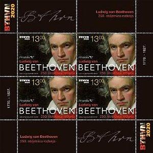 2020 Croácia 250 anos de Beethoven Bloco