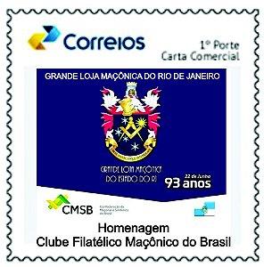 2020 Grande Loja Maçônica do Rio de Janeiro 93 anos - SP mint