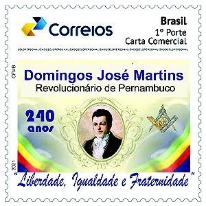 2021 Domingos José Martins, 240 anos  Maçom e revolucionário pernambucano - SP