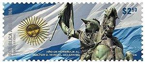 2012 - Argentina Homenagem ao Dr e maçom Manuel Belgrano (mint)