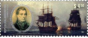 2014 Argentina Homenagem ao Almirante e maçom Guillermo Brown, Bicentenario do Combate Naval de Montevideo