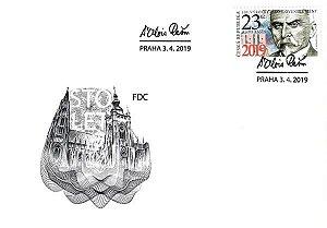 2019 - República Tcheca - FDC  Alois Rasin, maçom e ministro das finanças - 100 anos da moeda (mint)