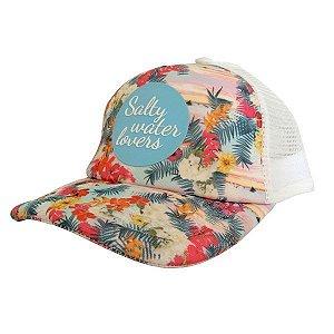 Boné Feminino Floral Maui