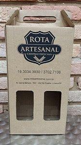 Caixa para 2 garrafas Rota Artesanal