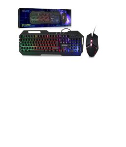 Kit Gaming Teclado Metal Com Mouse Led Rgb  Bk-g800