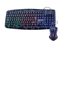Kit Teclado Mouse Gamer Computador Pc Usb Led BK-G600