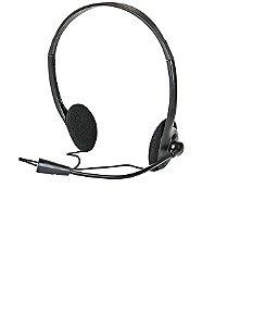 Fone De Ouvido Multilaser Headset C/ Fio Preto P2 - Ph002
