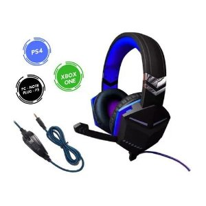 Headset Gamer Fr-510 Deep Bass Fone Ouvido Microfone P2 Pc P