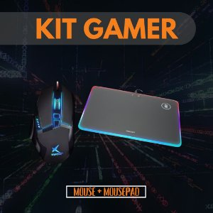 Kit Gamer Mouse X Soldado e Mouse Pad Rígido Philips