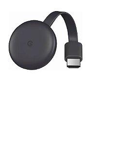 Chromecast 3rd Generation Full HD carvão com memória RAM de