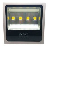 Refletor LED 200W Branco Frio 6500K Prata Slim IP65