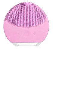 Esponja Elétrica Massagem  Limpeza Rosto Recarregável Rosa