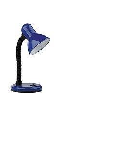 Luminária de mesa Versaty 1 Lampada E27 Azul  Bronzearte