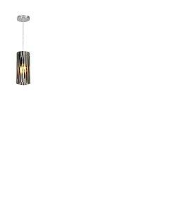 Pendente Em Vidro Para 1 Lâmpada Mirage 12x17cm Decorado